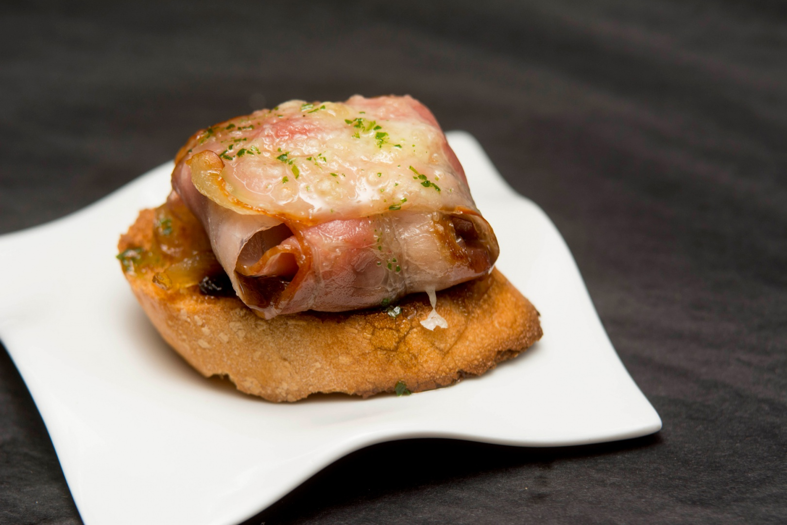 tapas de bacon y queso