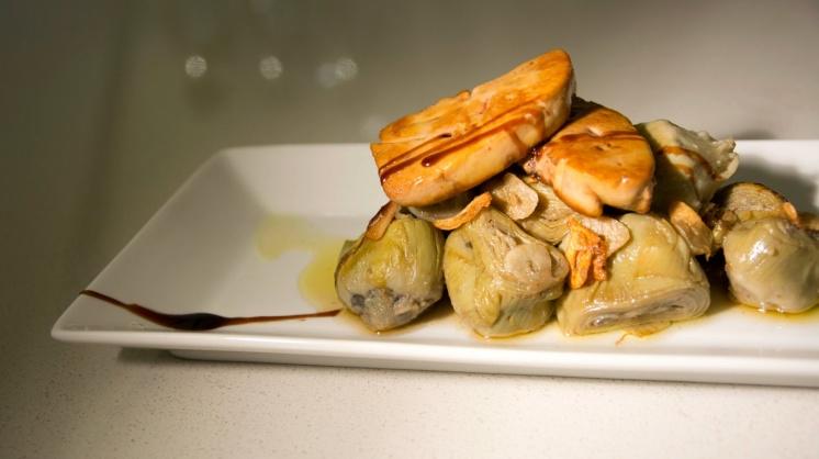 Alcachofas con foie