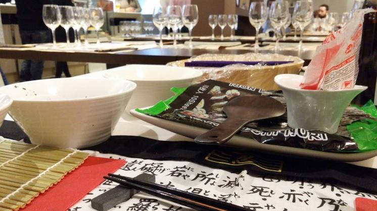 Todo listo para nuestro Show Cooking de cocina Nikkei
