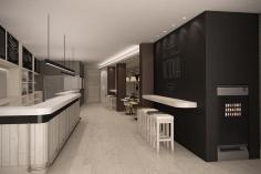 interior en 3D con detalle de la remodelación