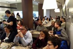 Nuestro público atento en Tapas y Pinchos Victoria