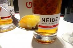 Sidra de hielo Neige con Tarta de Manzana de Tapas Victoria