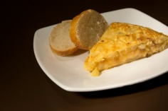 Tortilla de patata con y sin cebolla