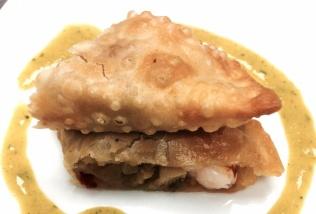 Empanadilla de langostino pisto y soja